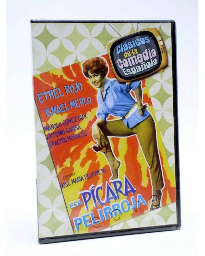 Cubierta de DVD CLÁSICOS DE LA COMEDIA ESPAÑOLA 12. ESA PÍCARA PELIRROJA (José María Elorrieta) 2005