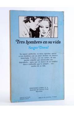 Contracubierta de ARCADIA 8. TRES HOMBRES EN SU VIDA (Sergio Duval) Ceres 1981