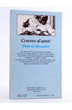 Contracubierta de ARCADIA 17. CRUCERO AL AMOR (Pablo De Montalbán) Ceres 1981