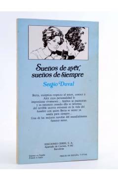 Contracubierta de ARCADIA 19. SUEÑOS DE AYER SUEÑOS DE SIEMPRE (Sergio Duval) Ceres 1981
