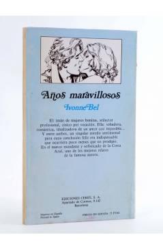 Contracubierta de ARCADIA 22. AÑOS MARAVILLOSOS (Ivonne Bel) Ceres 1981
