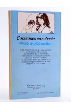 Contracubierta de ARCADIA 26. CORAZONES EN SUBASTA (Pablo De Montalbán) Ceres 1981