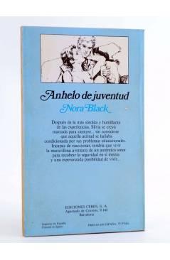 Contracubierta de ARCADIA 27. ANHELO DE JUVENTUD (Nora Black) Ceres 1981