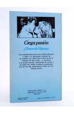 Contracubierta de ARCADIA 35. CIEGA PASIÓN (Amanda Román) Ceres 1981