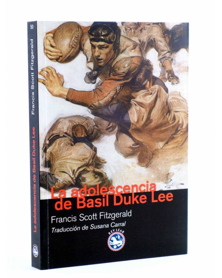 Cubierta de LA ADOLESCENCIA DE BASIL DUKE LEE (Francis Scott Fitzgerald) Rey Lear 2012
