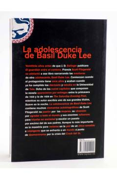 Contracubierta de LA ADOLESCENCIA DE BASIL DUKE LEE (Francis Scott Fitzgerald) Rey Lear 2012