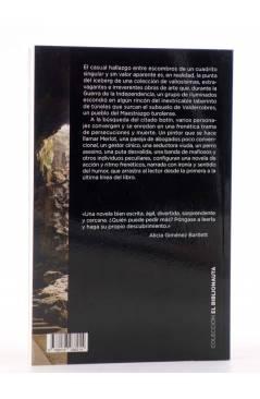 Contracubierta de EL BIBLIONAUTA 12. LOS PERROS Y LOS CUCHILLOS (Alicia Estopiña) Del Serbal 2015