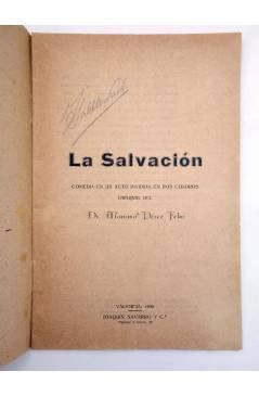 Muestra 1 de LA SALVACIÓN. COMEDIA EN UN ACTO (Dr. Mariano Feliu) Joaquín Navarro y Cª 1920