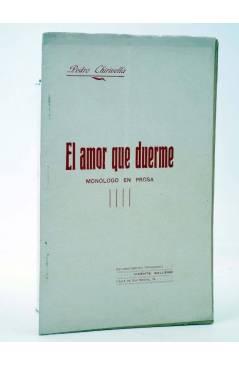 Cubierta de EL AMOR QUE DUERME. MONÓLOGO EN PROSA (Pedro Chirivella) Vicente Gallego 1916