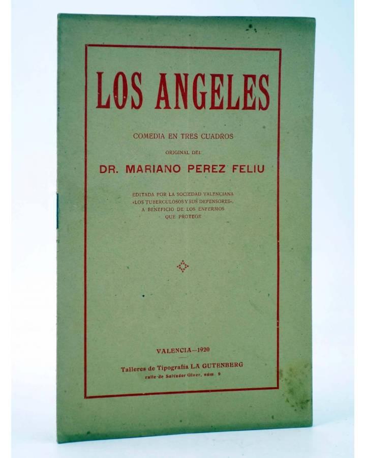 Cubierta de LOS ÁNGELES. COMEDIA EN TRES CUADROS (Mariano Pérez Feliu) La Gutenberg 1920. DEDICATORIA AUTÓGRAFA