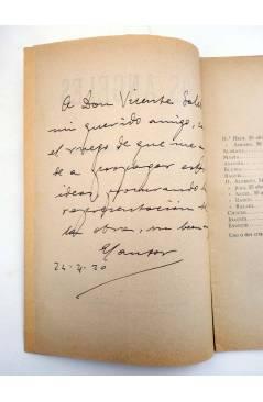 Muestra 1 de LOS ÁNGELES. COMEDIA EN TRES CUADROS (Mariano Pérez Feliu) La Gutenberg 1920. DEDICATORIA AUTÓGRAFA