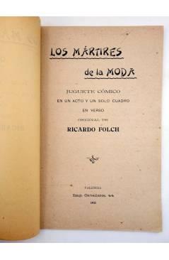 Muestra 1 de LOS MÁRTIRES DE LA MODA. JUGUETE CÓMICO (Ricardo Folch) Imp. Caballeros 1911