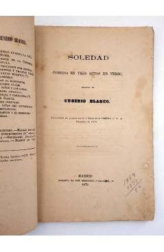 Muestra 2 de EL TEATRO CONTEMPORÁNEO. SOLEDAD (Eusebio Blasco) José Rodríguez 1879
