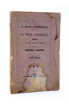 Cubierta de EL TEATRO CONTEMPORÁNEO. LA ROSA AMARILLA (Eusebio Blasco) José Rodríguez 1881