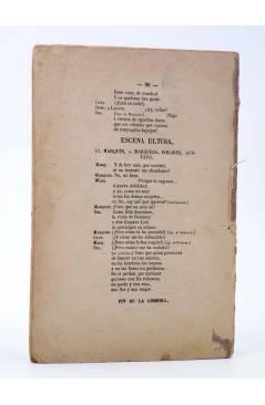 Contracubierta de EL TEATRO CONTEMPORÁNEO. LA ROSA AMARILLA (Eusebio Blasco) José Rodríguez 1881