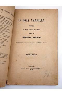 Muestra 2 de EL TEATRO CONTEMPORÁNEO. LA ROSA AMARILLA (Eusebio Blasco) José Rodríguez 1881