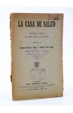 Cubierta de LA CASA DE SALUD. JUGUETE CÓMICO (Joaquín Dicenta Hijo / Antonio Paso Hijo) Maucci 1922