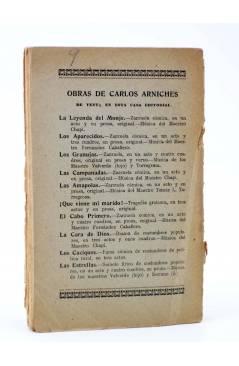 Contracubierta de LA CASA DE SALUD. JUGUETE CÓMICO (Joaquín Dicenta Hijo / Antonio Paso Hijo) Maucci 1922