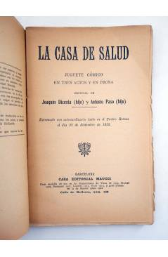 Muestra 1 de LA CASA DE SALUD. JUGUETE CÓMICO (Joaquín Dicenta Hijo / Antonio Paso Hijo) Maucci 1922