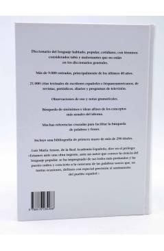 Contracubierta de DICCIONARIO SOHEZ DEL ESPAÑOL COTIDIANO (Delfín Carbonell Basset) Del Serbal 2008