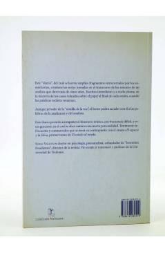 Contracubierta de COLECCIÓN ANTÍGONA 2. DIARIO DE UN ANÁLISIS II. EL MIEDO AL MIEDO (Serge Vallon) Del Serbal 1998