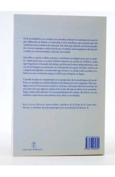 Contracubierta de COLECCIÓN ANTÍGONA 3. LÓGICA DEL DELIRIO (Jean Claude Maleval) Del Serbal 1998