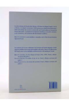 Contracubierta de COLECCIÓN ANTÍGONA 9. LOS DOS MOISÉS DE FREUD (1914 1939). FREUD Y MOISÉS: ESCRITURAS DEL PADRE I (Bri