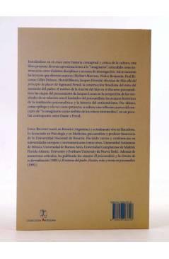 Contracubierta de COLECCIÓN ANTÍGONA 13. BOMBONES ENVENENADOS Y OTROS ENSAYOS SOBRE IMAGINARIO CULTURA Y PSICOANÁLISIS (
