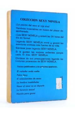 Contracubierta de SEXY NOVELA 5. NACIDA PARA GOZAR (Young Chances) Producciones Editoriales 1977