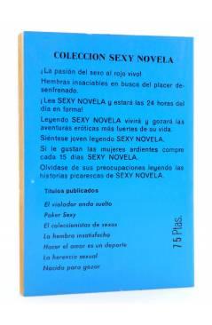 Contracubierta de SEXY NOVELA 7. LA BELLA Y LOS BESTIAS (Enrico Farinacci) Producciones Editoriales 1977