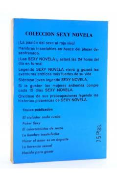 Contracubierta de SEXY NOVELA 15. HEMBRA DESEABLE (Winston Mcneil) Producciones Editoriales 1978