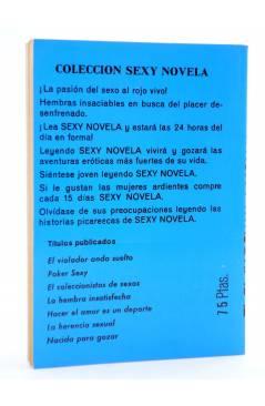 Contracubierta de SEXY NOVELA 16. EL PLAY-BOY Y LA MONJA (Mark Brown) Producciones Editoriales 1978