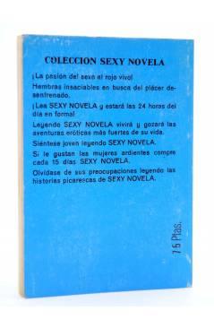 Contracubierta de SEXY NOVELA 17. LOS PORNOGRÁFICOS (Mark Brown) Producciones Editoriales 1978