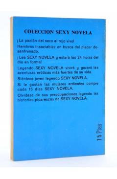 Contracubierta de SEXY NOVELA 20. SEXUALMENTE MUERTA (Winston Mcneil) Producciones Editoriales 1978