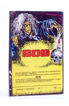 Contracubierta de TERROR FANTASY 1. UNA TUMBA SIN NOMBRE Y OTROS RELATOS (W. Diehl) Ediprint 1982