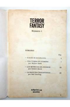 Muestra 1 de TERROR FANTASY 1. UNA TUMBA SIN NOMBRE Y OTROS RELATOS (W. Diehl) Ediprint 1982