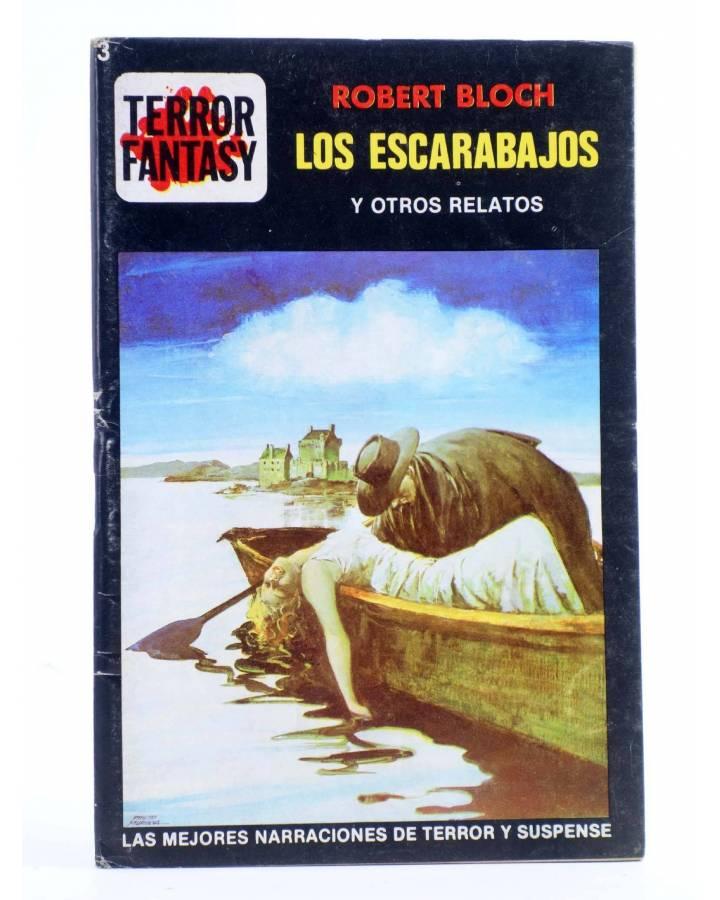 Cubierta de TERROR FANTASY 3. LOS ESCARABAJOS Y OTROS RELATOS (Robert Bloch) Ediprint 1982