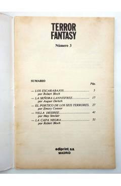 Muestra 1 de TERROR FANTASY 3. LOS ESCARABAJOS Y OTROS RELATOS (Robert Bloch) Ediprint 1982