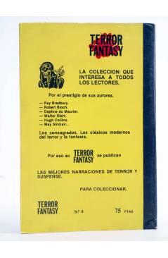 Contracubierta de TERROR FANTASY 4. LA MUCHACHA DE MARTE Y OTROS RELATOS (W. Diehl) Ediprint 1982