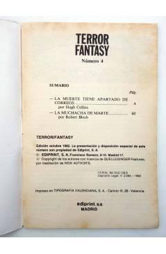 Muestra 1 de TERROR FANTASY 4. LA MUCHACHA DE MARTE Y OTROS RELATOS (W. Diehl) Ediprint 1982