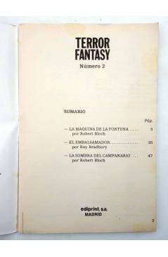 Muestra 8 de TERROR FANTASY 1 A 4. COLECCIÓN COMPLETA (Vvaa) Ediprint 1982