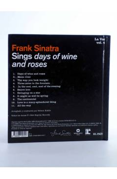 Contracubierta de CD LIBRO FRANK SINATRA. LA VOZ 4. SINGS DAYS OF WINE AND ROSES (Frank Sinatra) El País 2008