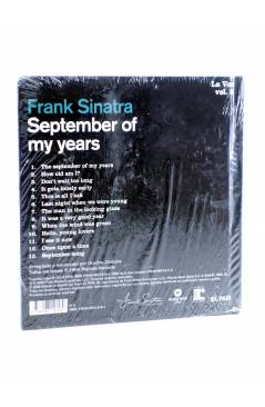 Contracubierta de CD LIBRO FRANK SINATRA. LA VOZ 5. SEPTEMBER OF MY YEARS (Frank Sinatra) El País 2008