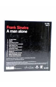 Contracubierta de CD LIBRO FRANK SINATRA. LA VOZ 6. A MAN ALONE (Frank Sinatra) El País 2008