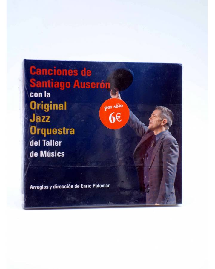 Cubierta de CD CANCIONES DE SANTIAGO AUSERÓN CON LA ORIGINAL JAZZ ORQUESTRA.. Huella Sonora 2008