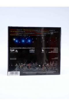 Contracubierta de CD CANCIONES DE SANTIAGO AUSERÓN CON LA ORIGINAL JAZZ ORQUESTRA.. Huella Sonora 2008