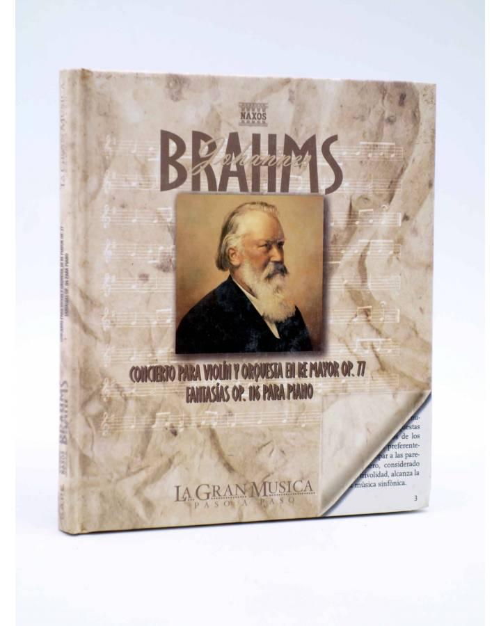 Cubierta de LA GRAN MUSICA PASO A PASO. BRAHMS. LIBRO + CD (Johannes Brahms) SAPE 2002