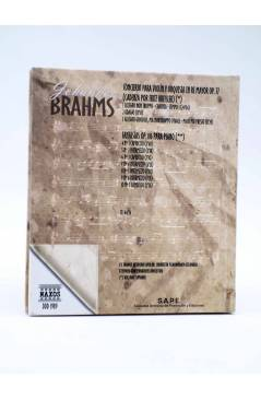 Contracubierta de LA GRAN MUSICA PASO A PASO. BRAHMS. LIBRO + CD (Johannes Brahms) SAPE 2002