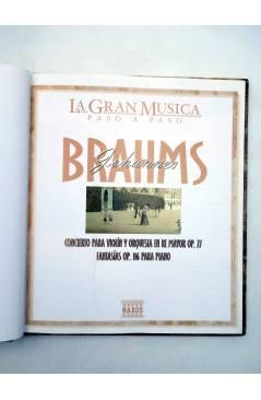 Muestra 1 de LA GRAN MUSICA PASO A PASO. BRAHMS. LIBRO + CD (Johannes Brahms) SAPE 2002