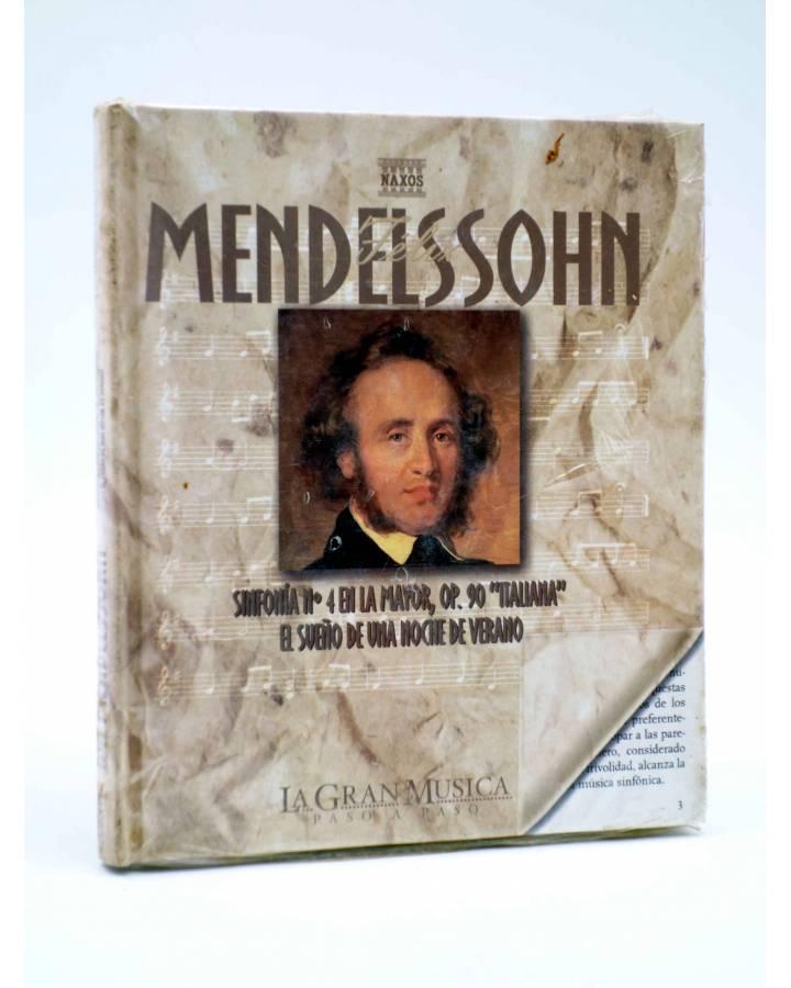 Cubierta de LA GRAN MUSICA PASO A PASO. MENDELSSOHN. LIBRO + CD (Felix Mendelssohn) SAPE 2002